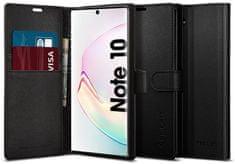 Spigen Ochranné pouzdro s funkcí stojánku Wallet S pro Samsung Galaxy Note10 černé, 628CS27476