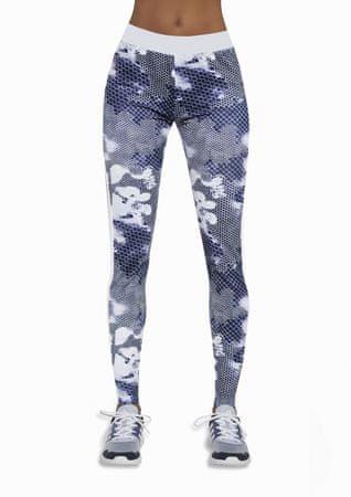 Bas Bleu Női sportos leggings Code white-blue, többszínű, L