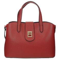Elegantní dámská kabelka v červené barvě