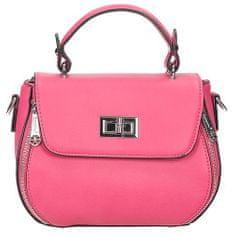 Růžová crossbody kabelka s ozdobnými zipy