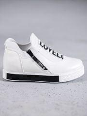 Trendy tenisky dámské bílé na klínku