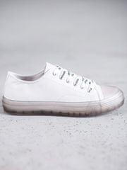 Originální tenisky bílé dámské bez podpatku