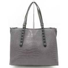 Klasická dámská kabelka v šedé barvě