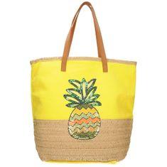Velká plážová taška ve žluté barvě
