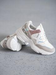 Komfortní bílé dámské tenisky bez podpatku