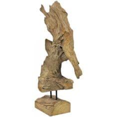 Europalms Dekorativní socha přírodního dřeva, 60 cm