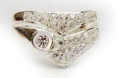 Strieborný prsteň 14268