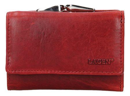 Lagen Ženska usnjena denarnica HT-33 / T Rdeča
