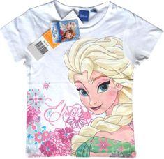 Sun City Dětské tričko Frozen Elsa bavlna bílé Velikost: 104 (4 roky)