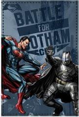 Sun City Fleecová / fleece deka Batman vs. Superman Gotham 100x150 coral fleece