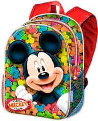 KARACTERMANIA Školní batoh Mickey / batoh na cesty Mickey 40cm 3D modrý