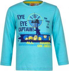 Sun City Dětské tričko Mimoni Captain bavlna tyrkysové Velikost: 98 (3 roky)