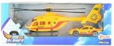 Toi Toys Helikoptéra s kovovým autíčkem dárková sada Barva: ČERVENÁ
