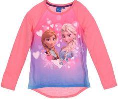 Sun City Dětské tričko Frozen Anna a Elsa růžové Velikost: 110 (5 let)