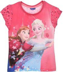 Sun City Dětské tričko Frozen Anna a Elsa bavlna tmavě růžové Velikost: 104 (4 roky)