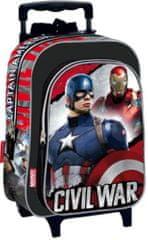 PERONA Batoh na kolečkách Avengers Civil War 3D 37cm černý