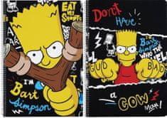 Safta Sešit A4 Simpsonovi Bart čtverečkovaný 80 listů