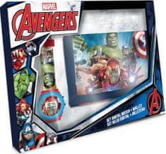 EUROSWAN Dárkový set hodinky a peněženka Avengers