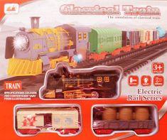 ICOM Klasický vlak + 2 vagóny + koleje sada na baterie se světlem a zvukem II