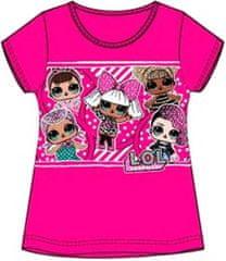 Sun City Dětské tričko L.O.L. Surprise bavlna tmavě růžové Velikost: 108 (5 let)