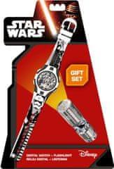 EUROSWAN Dárková sada hodinky a LED baterka Star Wars