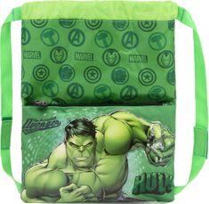 KARACTERMANIA Sportovní lehký batoh Avengers Hulk 3D 26x34cm zelený