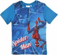 Sun City Dětské tričko Spiderman bavlna modré Velikost: 104 (4 roky)