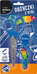 Kidea Dětské nůžky ergonomické s pouzdrem 14cm