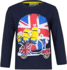 Sun City Dětské tričko Mimoni England bavlna tmavě modré Velikost: 98 (3 roky)