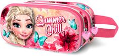 KARACTERMANIA Penál Frozen / cestovní taštička Frozen Summer 3D 22x10 cm