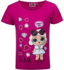 United Dětské tričko L.O.L. Surprise Glam bavlna tmavě růžové Velikost: 98 (3 roky)
