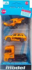 ICOM Kovová autíčka a helikoptéra dárková sada 3ks 1:64