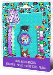 EUROSWAN Dárkový set hodinky a náramky Littlest Pet Shop LPS 5ks