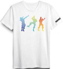 Global Brands Dětské tričko Fortnite Dance bavlna bílé Velikost: 152 (12 let)