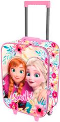 KARACTERMANIA Kufr na kolečkách Frozen 46cm 3D růžový