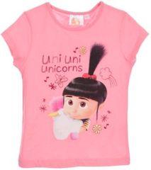 Sun City Dětské tričko Mimoni Unicorns bavlna růžové Velikost: 116 (6 let)