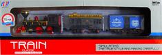 ICOM Klasický vlak + 2 vagóny + koleje sada na baterie se světlem a zvukem III