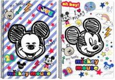 Safta Sešit A4 Mickey Muse čtverečkovaný 80 listů
