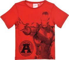 Sun City Dětské tričko Avengers Ironman bavlna červené Velikost: 104 (4 roky)