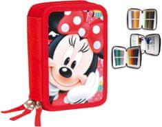 PERONA Třípatrový penál Minnie Mouse plný