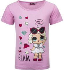 United Dětské tričko L.O.L. Surprise Glam bavlna světle růžové Velikost: 98 (3 roky)