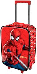 KARACTERMANIA Kufr na kolečkách Spiderman 46cm 3D červený