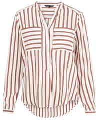 Vero Moda Damska bluzka VMERIKA STRIPE L / S SHIRT EXP Snow White Madder Brown