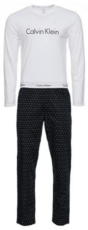 Calvin Klein pánske pyžamo NM1603E L/S PANT SET S čierne