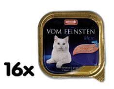 Animonda mokra karma dla kota Vom Feinstein Cat - łosoś + krewetki - 16x100g