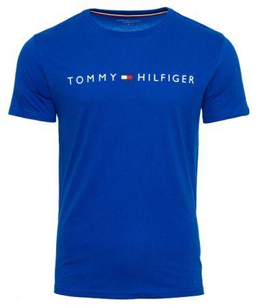 Tommy Hilfiger pánske tričko UM0UM01434 CN SS TEE LOGO FLAG S modrá