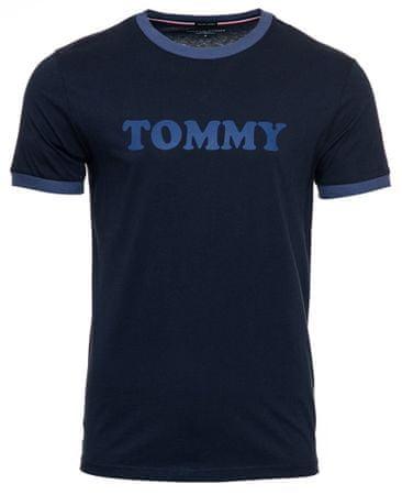 Tommy Hilfiger pánske tričko UM0UM01620 CN SS TEE LOGO S tmavomodrá