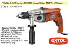 Extol Premium Elektrická vrtačka dvourychlostní 1100 W Extol Premium 8890048