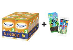 Sunar dojčenské mlieko Complex 3 banán - 6 x 600g