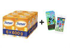 Sunar dojčenské mlieko Complex 2 - 6 x 600g
